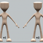 Comparison of v1 & v2 of Male