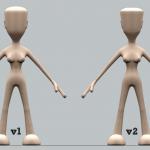 Comparison of v1 & v2 of Female